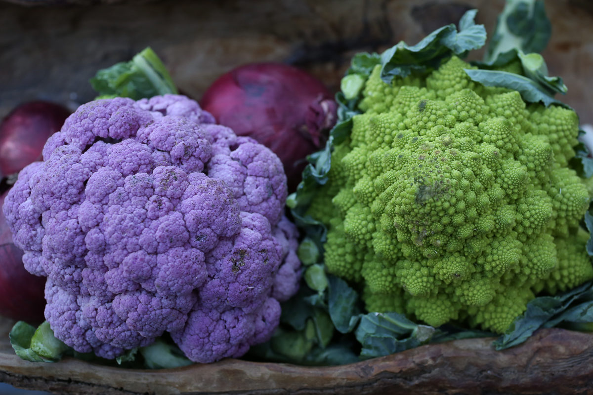 Fruit And Vegetable Market Chefs Guide To Cauliflower February 2018 Purple Romanesco